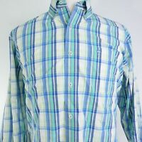 SOUTHERN TIDE LONG SLEEVE PLAID COTTON BLEND BUTTON DOWN SHIRT MENS SIZE L