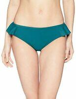 Coastal Blue Women's Swimwear Ruffle Side Bikini Bottom Jaded Teal Small (4-6)