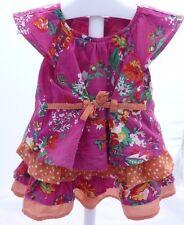 Marèse robe manche courte imprimée Ibiza rose fuschia orange bébé fille 6 mois
