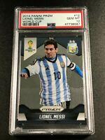 LIONEL MESSI 2014 PANINI PRIZM #12 WORLD CUP PSA 10 GEM ARGENTINA (8587)