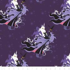 Camelot Fabric Disney Villains Maleficent in Amethyst PER METRE Licensed Film Tv