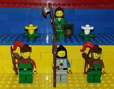 4 Lego Classic Castle Robin Hood Figuren. Minifig. Ritter, Forestmen Waldmann