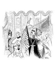 AL HIRSCHFELD Hand-Signed: GLENN CLOSE in SUNSET BOULEVARD; MARGO FEIDEN
