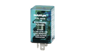 Narva Flasher Electronic 12V 3 Pin 68238BL fits Nissan Pulsar 1.6 (N15), 2.0 ...