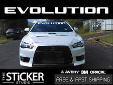 Mitsubishi Evolution Windshield #1 Logo sticker Lancer MR GSR 7 8 9 X