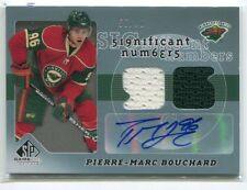 2008-09 SP Game Used SIGnificant Numbers Pierre-Marc Bouchard Jersey Auto 55/96