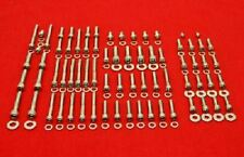HONDA 68-75 CB350 CL350 SL350 TWIN POLISHED STAINLESS ENGINE COVER BOLT KIT SET