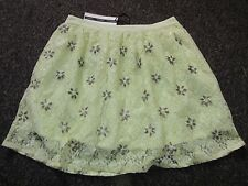 BNWT £65 UK 12 TopShop Skirt Yellow Floral Lace Bead Embellished Dress Up Party