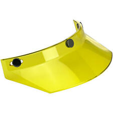 BILTWELL MOTO VISOR YELLOW CUSTOM CAFE RACER 3 SNAP PEAK FOR MOTORCYCLE HELMET