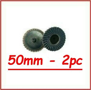 Roloc 50mm Flap Discs Smart Repair 80 Grits 2pcs Free Postage (RED DISCS)