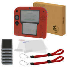 ZedLabz essentials for 2DS inc cover skin, screen protectors & wrist strap red