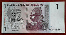 ZIMBABWE.  BILLETE DE1 DOLLAR DEL 2007 S/C