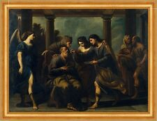 Tobias Heals his Blind Father Andrea Vaccaro Engel Glaube Religion B A3 00494