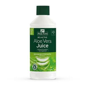 1 bottle of Aloe Pura Bio-Active Aloe Vera Juice Max Maximum strength 1L 1 Litre