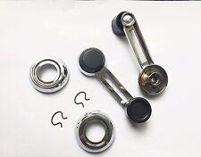 Satz Fensterkurbeln / Chromrosette  Klammer für Fiat 124 Spider neu