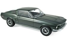 1968 FORD MUSTANG FASTBACK SATIN GREEN METALLIC 1/12 DIECAST CAR BY NOREV 122702