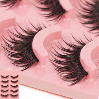 5 Pairs Long Makeup Cross Thick False Eyelashes Eye Lashes Nautral Handmade  FO