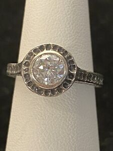 """Silpada """"Perfect Bliss"""" Size 5.75 Sterling Silver Cubic Zirconia Band Ring"""