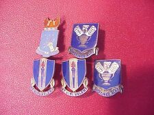 ORIGINAL WWII USAAF LOT OF 5 STERLING DUI INSIGNIA PINS