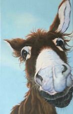 More details for donkey painting on canvas, print, gift, picture, art