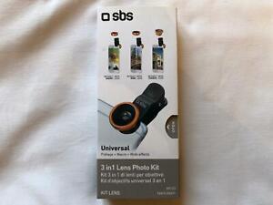 SBS Kit lenti 3 in 1 per smartphone