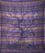 LARGE Indian Tree Of Life Throw Bedspread Boho Wall Hanging Tapestry Mandala