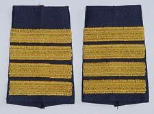Dienstgradabzeichen Rangschlaufen, gestickt Kapitän zur See Blau-Gold .....D7106