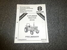 New Holland 3010S 3-Cylinder Tractor Original Parts Catalog Manual Manual Book