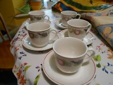 Boots Orchard-set of 5 cups and 6 saucers