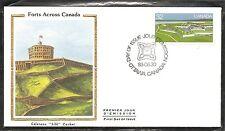 Canada Sc # 988 Halifax Citadel, Nova Scotia Fdc. Colorano Silk Cachet
