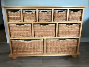 Cotswold Company Wicker Basket Hallway Storage Unit - Upcycle Project?
