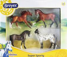 Breyer 1:32 Stablemates Model Horse: 4-Piece Super Sporty Set