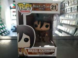 Attack on Titan POP- Mikasa Ackermann- #21 With Hardstack Fast Delivery