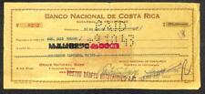 BILL OF EXCHANGE BANCO NACIONAL DE COSTA RICA PUNTARENAS REVENUE STAMP 1943