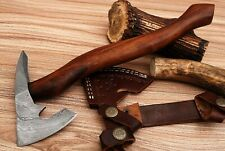 CUSTOM MADE HAND FORGED DAMASCUS STEEL AXE , HATCHET, - ROSE WOOD HANDLE EC-1
