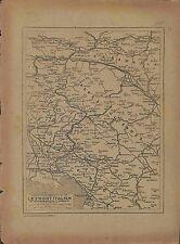 Map Carte Italy Italia Italie Front Italien Alpes Julienne Malborghetto 1914 WWI