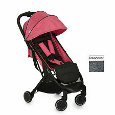 HAUCK MELANGE ROSE / CAVIAR SWIFT PUSHCHAIR STROLLER BABY BUGGY WITH RAINCOVER