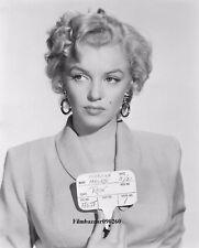 "MARILYN MONROE - 10"" x 8"" b/w Photograph Hair & Make-Up Test For NIAGRA 1952"