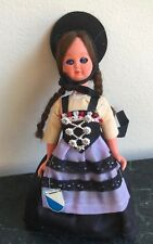 Lovely Vintage Swiss Doll from Zurich in a folk ethnic costume,  handmade 7.5'