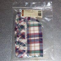 Longaberger Woven Traditions Plaid CRACKER Basket Liner ~ Brand New in Bag!
