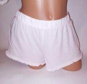 VICTORIA'S SECRET Pajama SOFT Pink FRILLY Shorts Bottoms Knit PJ XL X-LARGE