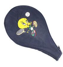 Vintage Looney Toons Tweety Bird Tennis Racquet Case Cover Zippered  1995 Retro