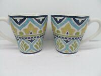 "222 Fifth Santiago 4 1/4""x 4"" Coffee Mugs Set Of 2 Mugs GC Very Rare"