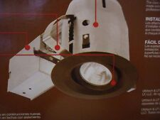 """4"""" Swivel Aged Bronze Recessed Remodel & New Construction Light Kit 50W Max"""
