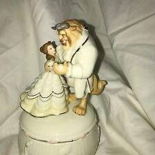wdcc lenox beauty and the beast limited edition anniversary 24 kt music box