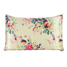 New 100% two sides silk oxford pillowcase soft pillow shams floral pillow cover