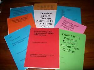 6 A4 info Autism, behaviour, speech, Gluten Free/CF, program,  family support