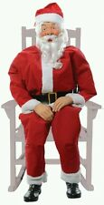 Animated Lifesize Rocking Chair Santa Claus Christmas Prop Decoration new