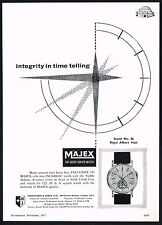 1950's Old Vintage Majex Watch Co Incabloc Watch Mid Century Modern Art Print AD