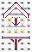Beginners Blackwork Birdhouse Counted Cross Stitch Kit Fat Cat
